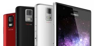 Huawei Ascend P2 красная, белая и черная модели