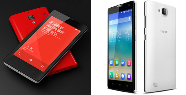 Xiaomi-RedRice-vs-Huawei-Honor-3C