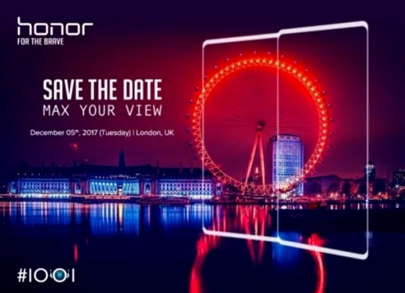 Honor V10 представят за неделю до лондонской презентации