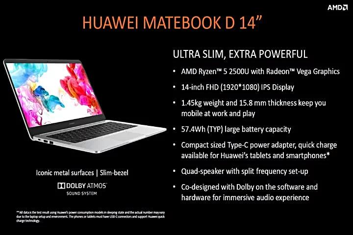 Huawei MateBook D (AMD Ryzen)